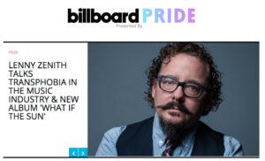 Lenny Zenith featured in Billboard