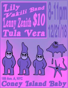 gig flyer pink ghosts